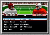 Bill Walsh College Football  Genesis Main menu