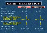 Bill Walsh College Football  Genesis Game statistics