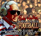 Bill Walsh College Football  SNES Title screen