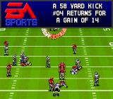Bill Walsh College Football  SNES The game tells how many yards were gained.