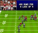 Bill Walsh College Football  SNES Players are referred to as just a number.