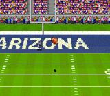 Bill Walsh College Football  SNES Ball is up in the air