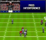 Bill Walsh College Football  SNES Ref calls a penalty.
