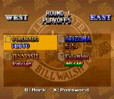 Bill Walsh College Football  SNES Playoff game match-ups