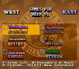 Bill Walsh College Football  SNES Week 1 games