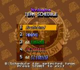 Bill Walsh College Football  SNES Team schedule