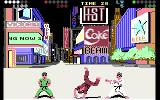 Exploding Fist + Commodore 64 The cartwheel is one of the new moves introduced in the game.