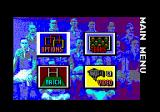 World Class Rugby Amstrad CPC Main menu