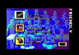 World Class Rugby Amstrad CPC Select your team and controls