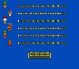 Tricky Kick TurboGrafx-16 Character/level select and password screen