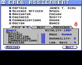 Starflight Amiga Crew assignment