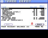 Starflight Amiga Trade Depot in buy mode
