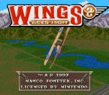 Wings 2: Aces High SNES Title screen