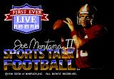 Joe Montana II: Sports Talk Football Genesis Title screen