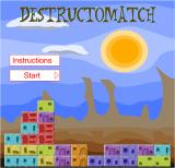 Destruct-O-Match Browser The starting screen, under a blazing sun.