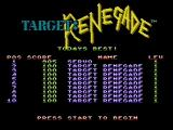 Target: Renegade NES High score screen