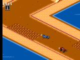 Buggy Run SEGA Master System A bumpy spot on the track which I ran over allowing the red car to pass on beginner track 2