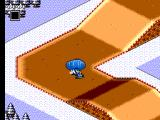 Buggy Run SEGA Master System Hitting a frozen water on beginner track 4