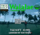 True Golf Classics: Waialae Country Club SNES Title screen