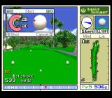 True Golf Classics: Waialae Country Club SNES Hit the ball when the red dot lands on the place the player wants to hit