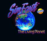SimEarth: The Living Planet SNES Title screen