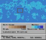 SimEarth: The Living Planet SNES Map of the world