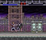 X-Kaliber 2097 SNES Slicing an enemy.