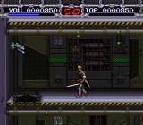 X-Kaliber 2097 SNES Turrets on the wall shoot bullets.