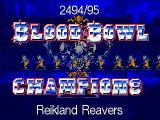 Blood Bowl DOS Reikland Reavers are the 2494-95 champs!
