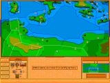 Advanced Civilization DOS From this view you move your units around.