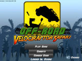 Off-Road Velociraptor Safari Browser Main menu