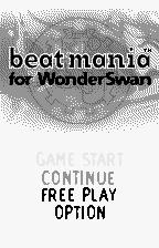 beatmania for WonderSwan WonderSwan Main menu