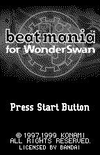 beatmania for WonderSwan WonderSwan Title screen