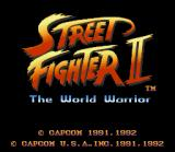 Street Fighter II SNES The title screen