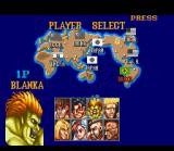 Street Fighter II SNES In this original version there are 8 different fighters available. As you can see, the character portraits are not very sophisticated in this version.