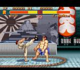 Street Fighter II SNES E. Honda gets kicked in the face by Ryu