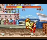 Street Fighter II SNES Blanka puts his teeth in Ken's neck, tasty!