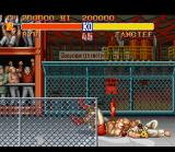 Street Fighter II SNES Zangief shows off one of his wrestling moves