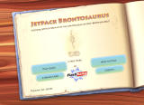 Jetpack Brontosaurus Browser Main menu