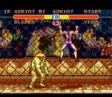 Street Fighter II SNES Second boss Vega climbs in the fence