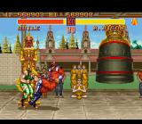 Street Fighter II SNES Fourth and final boss M. Bison shows Guile that he ain't the end boss for nothing