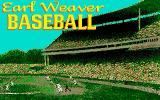 Earl Weaver Baseball Amiga Title screen #1