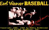 Earl Weaver Baseball Amiga Title screen #2