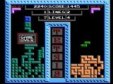 Tetris NES Game over for player 1 (Tengen release)