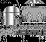 Shaq Fu Game Boy Set makes like a mummy for his victory.