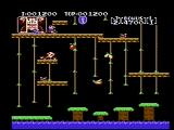 Donkey Kong Classics NES The first level (Donkey Kong Jr.)