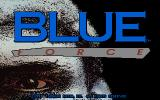 Blue Force DOS Title screen.