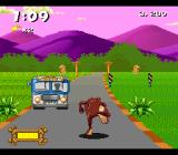 Taz-Mania SNES Watch out for buses