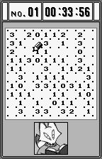 Slither Link WonderSwan Starting a game, kitsune bookworm does nothing except decorate that gray rectangle.