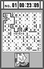 Slither Link WonderSwan Mid way through a game, each wrong placement damages my time.